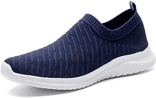 Men's Lightweight Walking Shoes - Mesh Athletic Tennis Slip On Sneakers