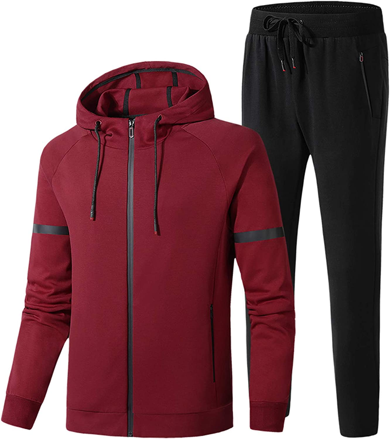 DOSLAVIDA Men's Hooded Sweatsuits Suits 2021 Limited price Casual Athletic Jogging