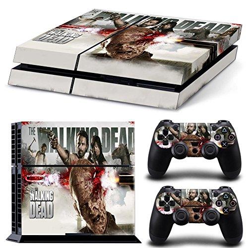 46 North Design Playstation 4 PS4 Folie Skin Sticker Konsole TWD aus Vinyl-Folie Aufkleber Und 2 x Controller folie