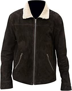 Rick Grimes Brown Suede Real Leather Jacket