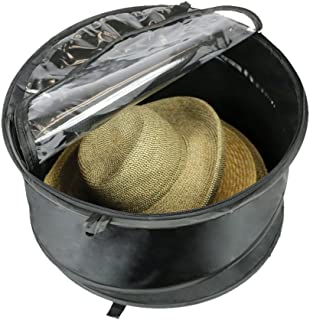The Elixir Deco Premium Hat Pop up Storage Bag, Large Hat Storage Travel Bag Round Hat Box Container, Keeps Out Dust and Dirt