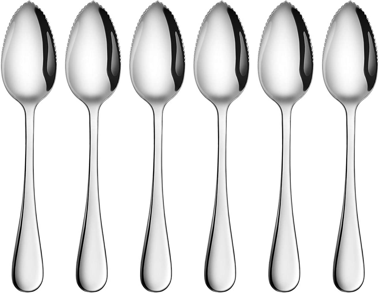 Grapefruit and Dessert Spoon - Serrated Chicago Mall with Max 53% OFF Edg Stainless Steel