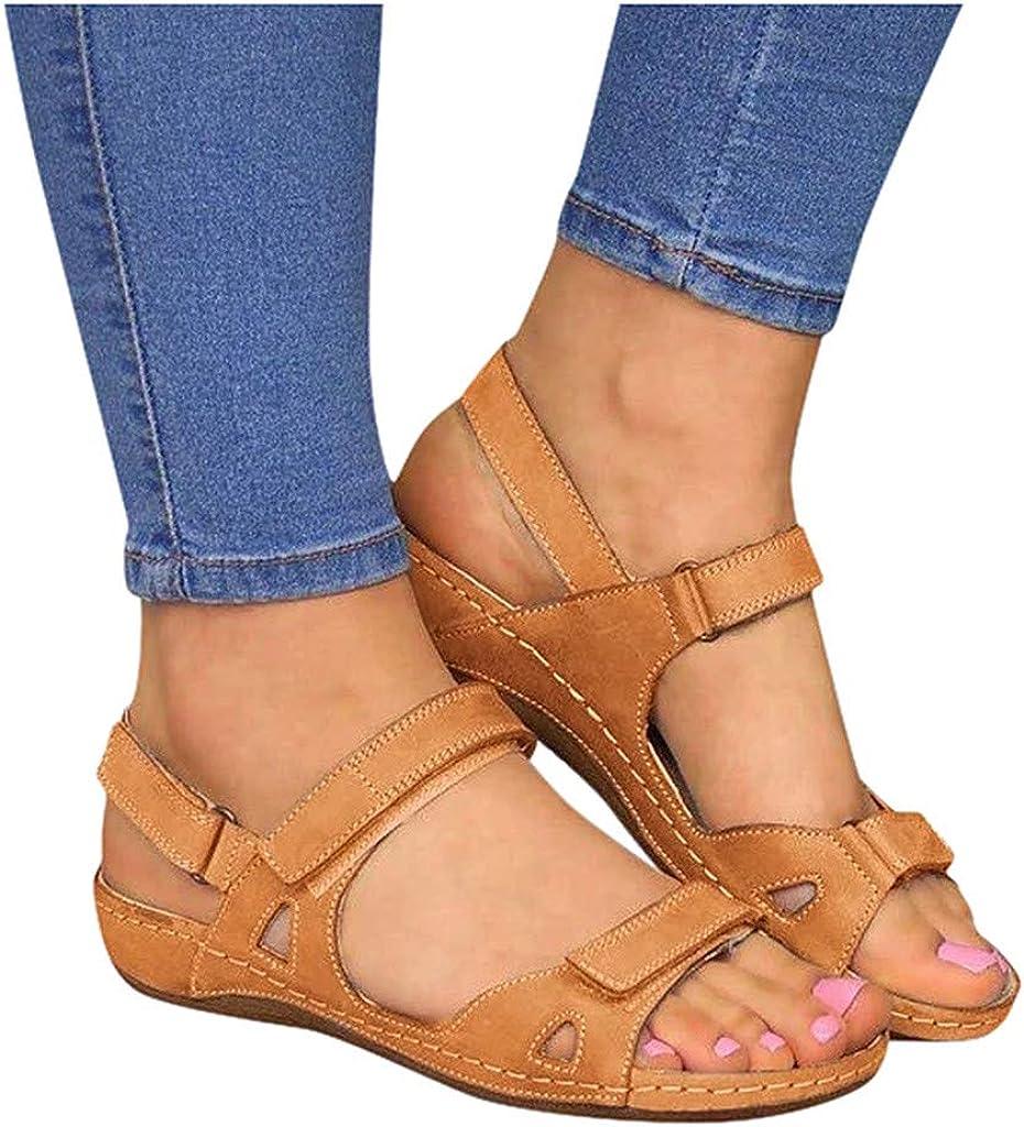 Niceast Sandals for Women Casual Summer, Womens Flats Open Toe Slides Hollow Comfortable Sandals