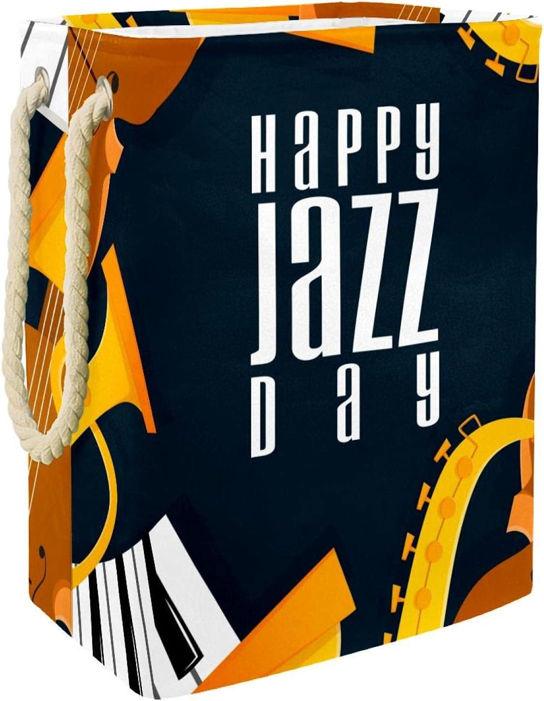 Laundry supreme Directly managed store Hamper Happy Jazz Day Saxophone Folda Music Piano Violin