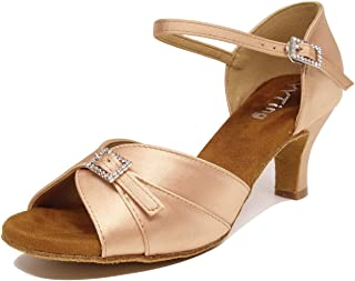 Low Heel Women Ballroom Dance Shoes Salsa Batchata Social Beginner Practice Wedding Dancing 2 Heels YT04