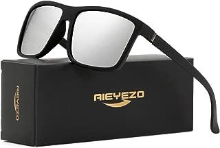 Polarized Sunglasses for Men Women's Vintage Square Frame Sun Glasses - 100% UV Blocking