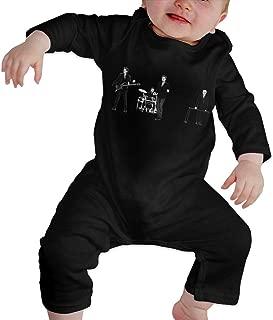 KayiKama Duran Duran Baby Boy Girl Long Sleeve Jumpsuit Jumpsuit Button Black