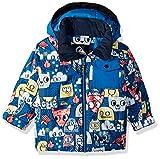 Quiksilver Boys' Big Little Mission 10K Grow System Snow Jacket, Daphne Blue Animal Party, 6/7