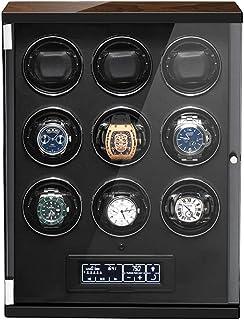 SYN-GUGAI - SYN-GUGAI Watch Enrollador Enrollador De Reloj Automático Inteligente Caja De Relojes Estuches Mecánicos De Rotación con Ranuras De 2/4/6/9/12 Adecuados para Relojes De Pulsera para Hombres Y Mujeres
