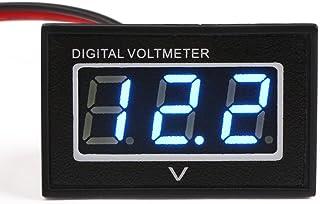 DC 30V Mini Digital Voltmeter Blau LED Digital Display Panel Voltage Meter Battery Power Monitor Volt Detektor für Auto Motorrad Fahrzeug Automotive