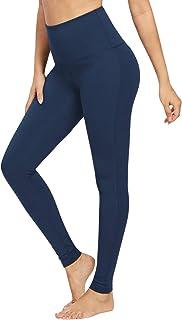 QUEENIEKE Yoga Hosen Damen-hohe Taillen Yoga Leggings mit Tasche Trainings Strumpfhosen für Laufen Fitness