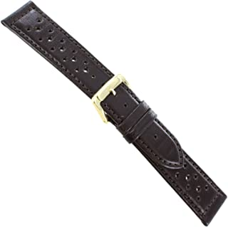 18mm Speidel Dark Brown Genuine Calfskin Leather Mens Driving Band Reg 5011 530