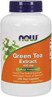 NOW Supplements, Green Tea Extract 400 mg, 250 Veg Capsules