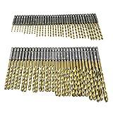 六角軸 ドリル ビット 13種 65本 セット 鉄鋼用 チタン コーティング 穴あけ 加工 作業 工事