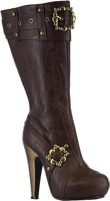 Steampunk Boots & Shoes, Heels & Flats Ellie Shoes Womens 426-Aubrey Boot  AT vintagedancer.com