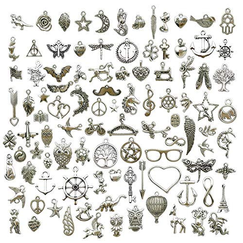 Pezzi argento peltro charms Pendants Mega mix fai da te per gioielli e accessori.