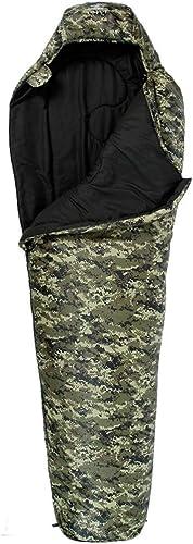 Sac de Couchage - Polyester 70D   Chun Yafang, Sac de Couchage Simple et Sauvage pour Le Camping intérieur Camouflage Adulte Adulte Quatre Saisons (Couleur   A, Taille   1.6KG)