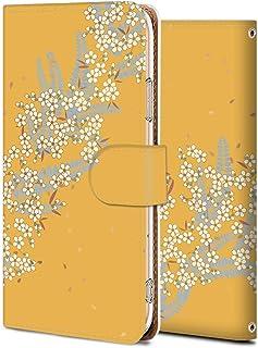 Huawei nova lite 2 ケース 手帳型 704HW カバー スマホケース おしゃれ かわいい 耐衝撃 花柄 人気 純正 全機種対応 復古の桜3 フラワー クラシック 11625569