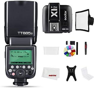 Godox TT685S 2.4G HSS 1/8000S TTL GN60 Flash Speedlite with X1T-S Trigger Transmitter Kit, Flash Diffuser Softbox and Flas...