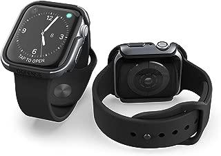 X-Doria Defense Edge, 44mm Apple Watch Case - Premium Aluminum & TPU Bumper Frame, Compatible with Apple Watch Series 4 & Series 5, (Charcoal)