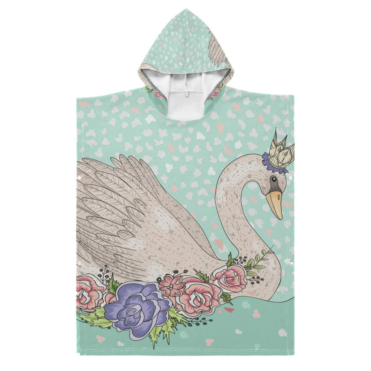 Kids Hooded Beach Towel Special Campaign wholesale - Cute with and Fairy Flowers Crown Swan