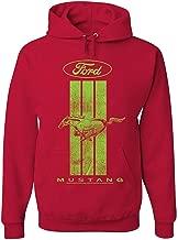qiaoen Ford Mustang Green Stripe Hoodie Classic American Muscle Car