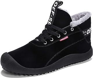 GAXmi Bottes Hiver Homme Chaudes Fourrure Chaussure de Neige Antidérapantes Randonnée Chaussures de Marche