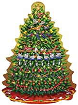 12 Days of Christmas Big Tree Shaped 500 piece Puzzle By Artist: Sergio Botero