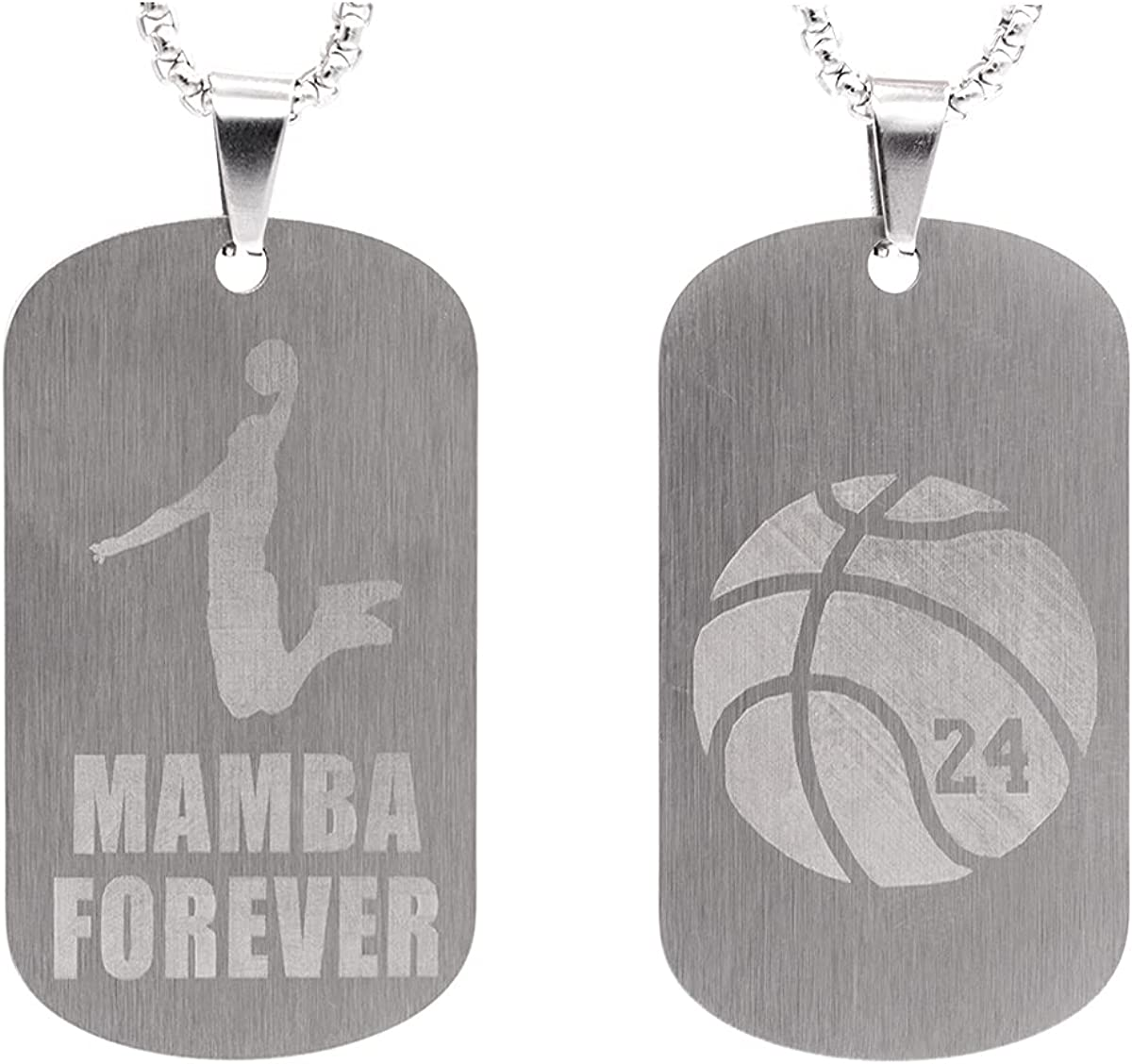 Black Mamba Pendant Basketball Ranking TOP20 Necklace Stainless Fashion Boys Men for