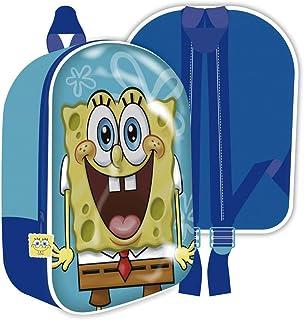 SB13211 Mochila 3D de 26x31x10cm de Nickelodeon-Bob Esponja