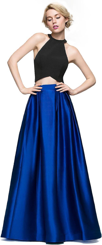 ALine Princess Scoop Neck FloorLength Satin Evening Dress