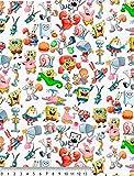 Disney-Stoffe, Baumwollstoffe, Schwamm & Friends,