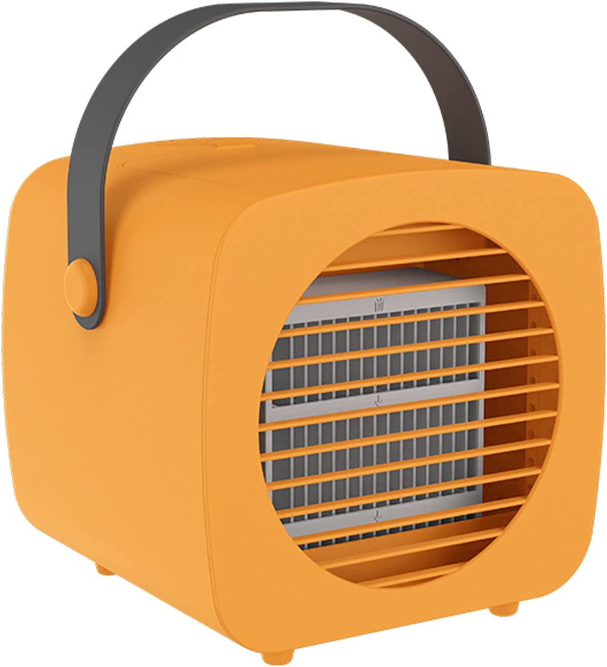XHMJ Mini Air Conditioner, PP Material, Three-Level Wind Speed Adjustment, Low Noise USB Power Supply, Suitable for Dormitory/Office Etc,6.3x7x6.5 Inchs Orange