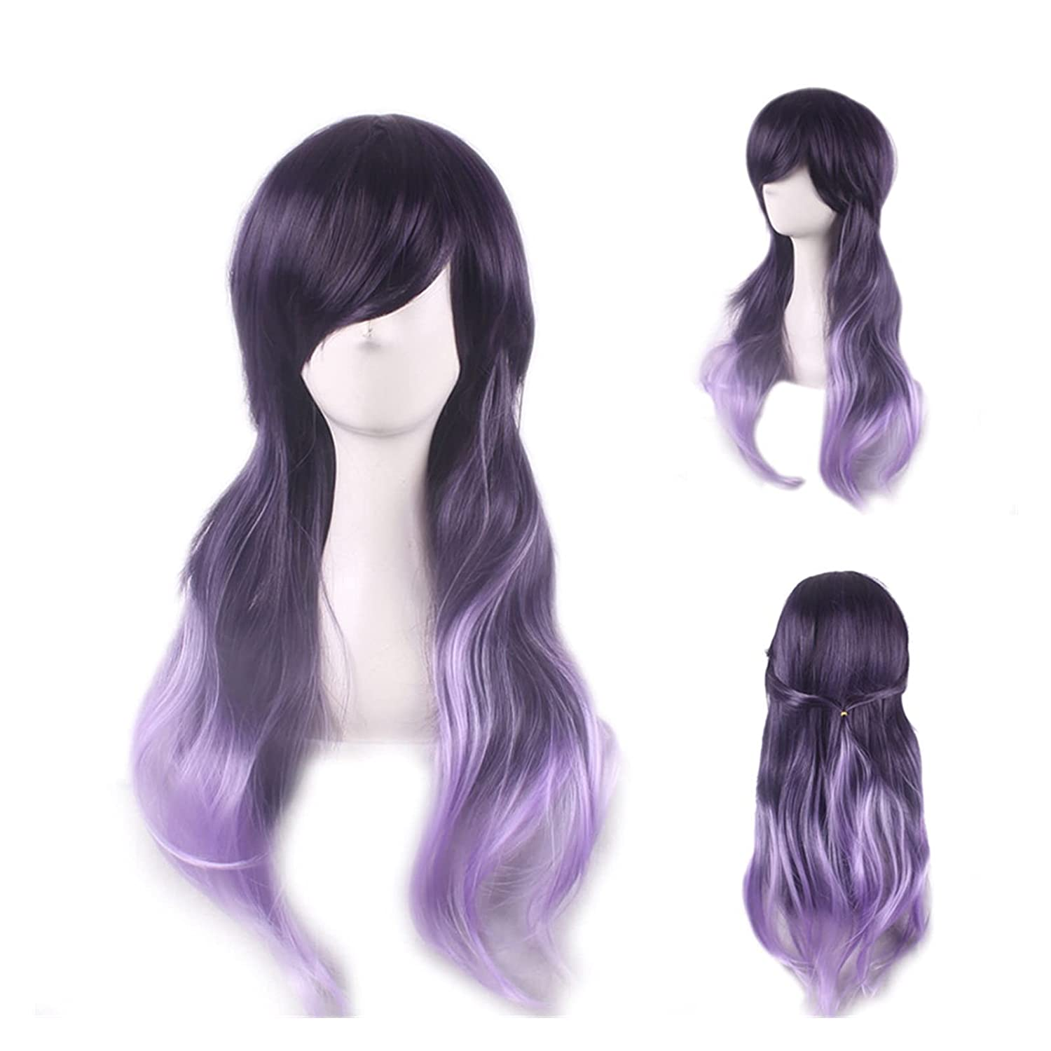 Chtom Choice COS Pseudo Purple Long Gradient Curly Hair Cheap mail order sales
