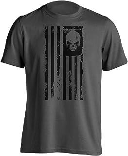Dion Wear American Flag Skull Military T-Shirt