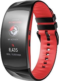 NotoCity Bracelet Gear Fit2 Pro/ Fit2, Bande de Remplacement en Silicone pour Samsung Gear Fit 2 Pro SM-R365/ Gear Fit2 S...