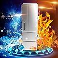 USB Warmer and Refrigerator, TOPEREK Mini PC Beer Beverage Mug Heater & Fridge Electric Portable Car Freezer Cooler for Hot/Cold Drinks