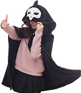GK-O Game Dva Overwatch OW Reaper Cosplay Cloak Warm Air Conditioner Blanket Cape Shawl