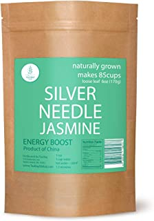Premium Jasmine Silver Needle White Tea by Two for Tea. Natural Jasmine Silver Needle White Tea drinks. Natural Loose Leaf...