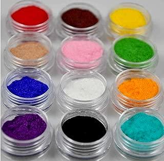 12 Colour Velvet Flocking Powder For Velvet Manicure Nail Art Polish Tips NEW