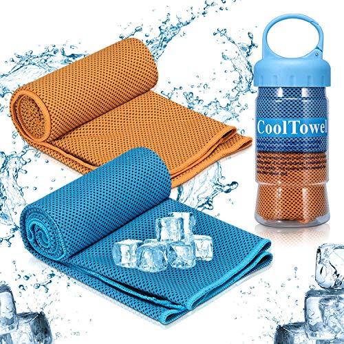 Kühltuch, iTrunk Super Absorbierendes Schweißtuch für sofortige Kühlung, Eiskaltes Sporthandtuch für Yoga Reisen Klettern Golf & Outdoor Sport