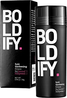 BOLDIFY Hair Fibers for Thinning Hair (MEDIUM BROWN) Undetectable & Natural - Giant 28g Bottle - Completely...