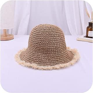 Surprise S Hats Handmade Fringe Tassel Straw Hat Foldable Large Brim Sun Hat Beach Sun Cap