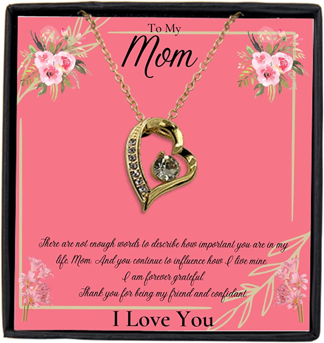 Forever Max 46% OFF Love Heart Necklace Gift Mom from Son fro to Max 76% OFF