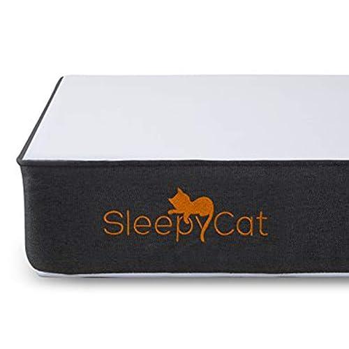 SleepyCat 6 Inch Orthopedic Memory Foam King Size Mattress (78x72x6 Inches, Gel Memory Foam)