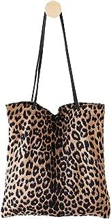 Womens Leopard Tote Casual Travel Shoulder Purse Bag Handbag College Beach Pack
