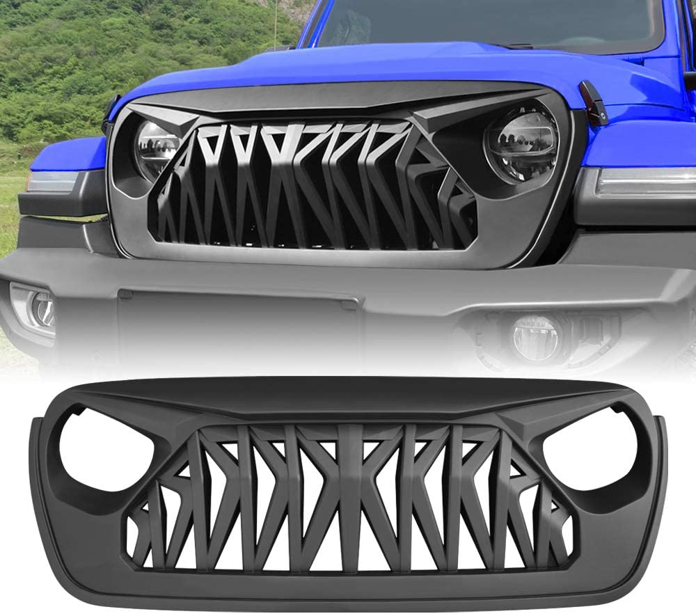 American Modified Front Shark Grille 2018-2020 Popular standard Jeep for Wrangler Max 50% OFF