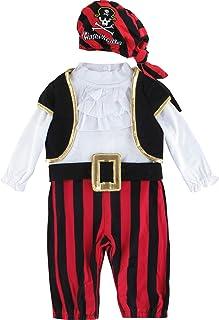 MOMBEBE COSLAND Baby Jungen Pirat Kostüme Fasching Strampler mit Hut