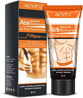Weite Fat Burning Cream, [60ML] Men Slimming Cream Fat Burning Muscle Belly Anti Cellulite Creams Tighten Muscles (Multicolor)
