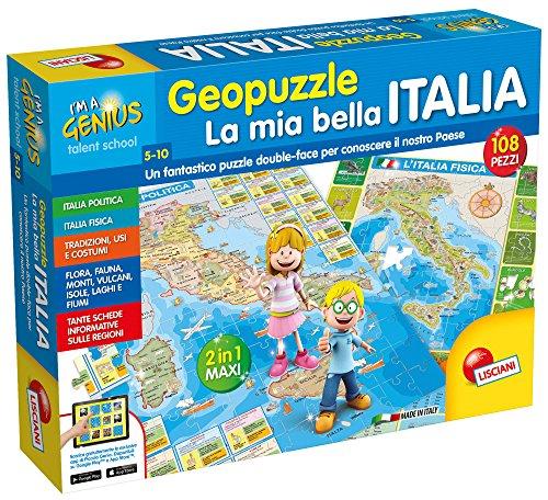 Liscianigiochi Lisciani Giochi 43873-Piccolo Genio Geopuzzle, La Mia Bella Italia, 43873